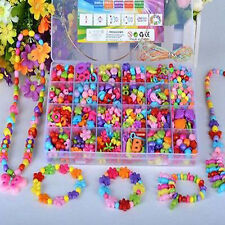 Acrylic Beads Children Jewelry DIY Craft Kit Creative Educational Toy Dark Color