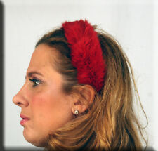 New Red Rabbit Fur Hair Band Headband - Efurs4less