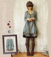 New Japanese Vintage Mori Girl Sweet Lolita Loose Fairy Elegant Princess Dress