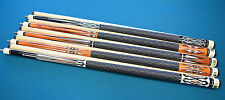 SET OF 5 POOL CUES New 58'' Canadian Maple Billiard Pool Cue Stick #2 FREE SHIP