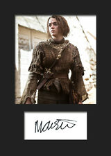 GAME OF THRONES - ARYA (Maisie Williams) #2 A5 Signed Mounted Photo Print