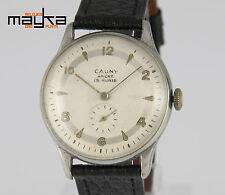 Cauny Vintage 36.5mm Steel Caliber Derby 33