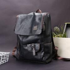 Men /Women Leather Backpack Shoulder Bag School Travel Pack Weekender Laptop Bag