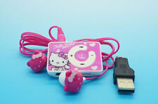 Hello Kitty MP3 Music Player + hello Kitty Earphone + Mini USB