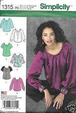 1315 MISSES PULLOVER BLOUSE WITH VARIATIONS SIZES 14-22  SIMPLICITY PATTERN 1315