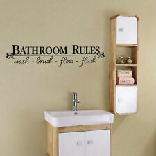 Cool Room Art DIY Wall Sticker Mural Home Decal For Bathroom Rules Removable