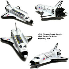 "8"" Space Shuttle NASA Replica diecast toy model Pull back and go action NEW"