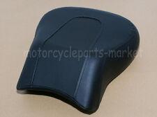 Black Passenger Soft Tail Rear Pillion Seat For Harley Fat Boy FLSTF 2008-2014