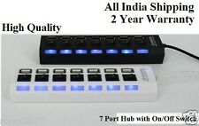 Multiport USB 2.0 Hi-Speed 7 port Hub -  On/Off Switches and LED light, usb hub