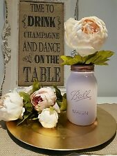 Painted Ball Mason Jar with Rose Gold open lid 945ml - Perfect for Weddings