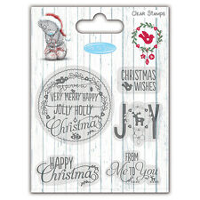 Beautiful  Me To You Christmas Clear Stamp Sentiments for cards & crafts