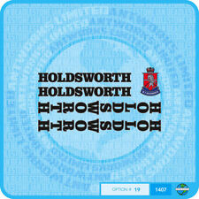 Holdsworth - Bicycle Decals Transfers Stickers - Black Fill & Silver Key Set 19