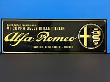 1940's Rare Alfa Rome Mille Miglia (1000 Miles) Reproduction Racing Garage Sign