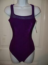 CHRISTINA PURPLE TUMMY TAMER SWIMSUIT SIZE 10L WOMEN'S NEW LAST ONE