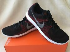 NIKE FLEX FURY(GS) Boys Sneakers 4Y Athletic Shoes Red Black 705459 004 NEW $80
