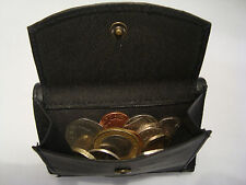 Leather Trifold  Wallet With Coin Pocket, Back Zip, Business Card Space