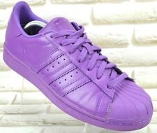 ADIDAS Supercolor Equality Mens Leather Purple Trainers Shoes Size 10 UK 44.5 EU