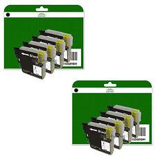 8 Cartouches d'encre Noire pour Brother DCP-J125 j140w J315W J515W non-OEM LC985