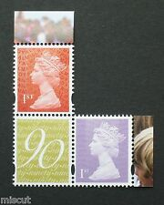 DY17 2016 QUEEN's 90th BIRTHDAY  1st RED + 1st PURPLE + MPIL M16L O16R + LABEL