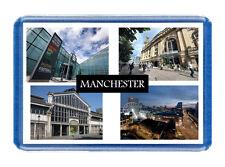 Manchester Fridge Magnet - Large Size (7cm x 4.5cm) - Great Gift Idea - Tourism