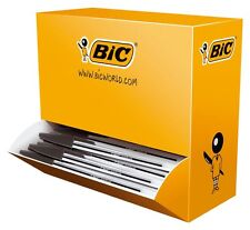 100 BOLÍGRAFOS BIC CRISTAL MEDIO MEDIUM PUNTA DE 1 mm NEGRO BOX Sellado