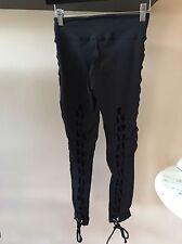 Equilibrium Activewear Women's Legging Blk Size S W Corset Detail!