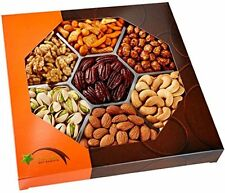 Five Fruit Nut Gifts Star Gift Baskets Holiday Gourmet Food Nuts Gift Basket, 7