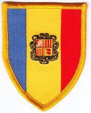 Aufnäher / Aufbügler Fußball + Andorra + Wappen + Nur 1x + Sammler +