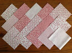 COTTON FABRIC PATCHWORK SQUARES PIECES CHARM PACK 2, 3, 4, 5 INCH ~ DUSKY PINK