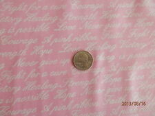 WORDS OF STRENGTH & COMFORT Breast Cancer Awareness Fabric