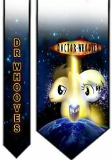 L@@K! Doctor Whooves Satin Neck tie - Derpy My Little Pony Doctor Who Tardis