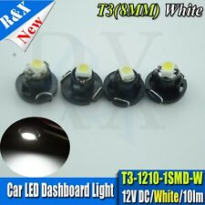 4X T3 Neo Wedge Blue 1210-SMD LED Cluster Climate Control Light Bulbs 8mm White