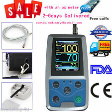 FDA CE 24h Ambulatory Digital Arm Blood Pressure monitor BP machine,Oximeter+ SW