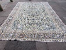 Fine Old Traditional Hand Made Persian Oriental Green Wool Carpet Rug 390x275cm