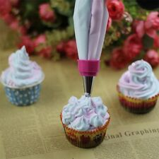 Two Color Piping Icing Bag Cake Cookie Cupcake Decorating Nozzles Tool Set F7