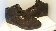 Mens Black Gucci High Top Lace up Sneaker 309517 KES20 1000 Size 9G Retail $550