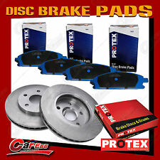 Rear Protex Disc Brake Rotors + Pads For Subaru Forester Impreza Liberty Outback