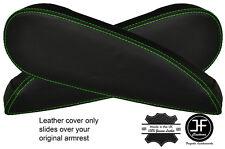 Green Stitch 2x Sedile Bracciolo in pelle copre si adatta a CITROEN c4 PICASSO VTR + 06-13