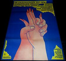 1975 Innocents with Dirty Hands ORIGINAL East German A1 POSTER Claude Chabrol