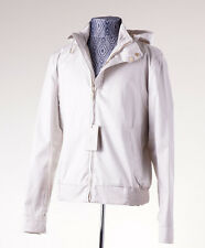 NWT $2850 BRIONI Water-Repellent Hooded Cotton Jacket with Gold Hardware L