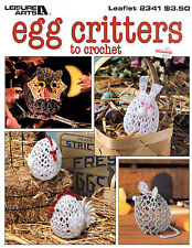 Leisure Arts Egg Critters to Crochet Leaflet #2341 Mouse Owl Kitty Puppy Pig 38