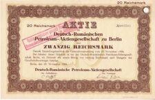 Deutsch-Rumänische Petroleum AG  Berlin 1924
