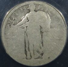 1916 25C U.S Old Silver Standing Liberty Quarter Coin ANACS FR-2