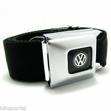 VW Volkswagen Logo Official Licensed Seatbelt Authentic Seat Belt Buckle Down