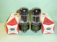 Raytheon 6SL7GT ECC35 Tubes - Matched Pair, Tested, NOS, NIB, Matched Codes