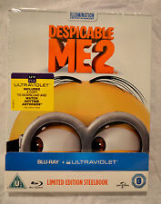NEW Despicable Me 2 Blu-Ray Steelbook UK Zavvi Exclusive Region Free