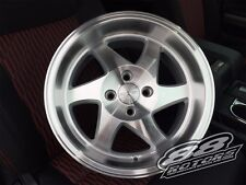 Ryver Saw Blades GSR 15x8 4x100 +20 Machined Silver Rims Civic Integra SI EG EK