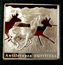 NIUE 2010 $1 AMERICAN ANTELOPE 28.25 gms .925 SILVER POLAND MINT PROOF RARE
