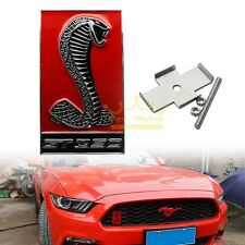 3D Cobra Car Auto Front Hood Grille Emblem Sticker for Ford Mustang Shelby GT350