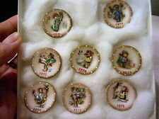 """RARE 11  1 1/4"""" miniature scale Hummel Plates signed and numbered 10 of 50"""